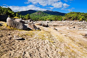 Dry season in the Iruelas Valley avila Castilla Leon Spain