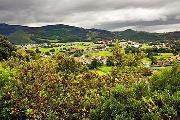 Sierra la Vida from the Antonio Ruiz viewpoint Santander Cantabria Spain