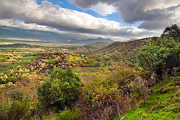 Sierra de Gredos from Mataespesa hill in Higuera de las Duenas avila Castilla Leon Spain