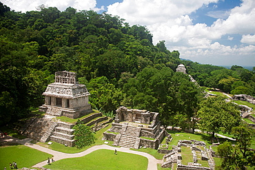Archeological site Palenque, Chiapas, Mexico