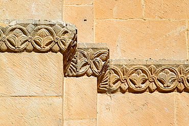 Detail of Old Cathedral of Salamanca, city declarated World Heritage by UNESCO Castilla y Leon Spain