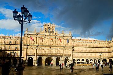 Main Square of Salamanca, declarated World Heritage by UNESCO Castilla y Leon Spain