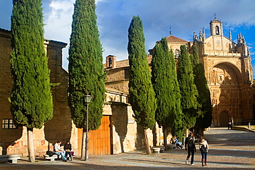 View of the San Esteban church or Dominicos Convent and Las Duenas Convent Salamanca Salamanca Castilla y Leon Spain