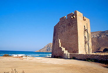 Medieval tower. Cabo Cope, Murcia province, Spain.