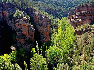 Barranco de la Hoz Alto Tajo natural park Guadalajara Spain