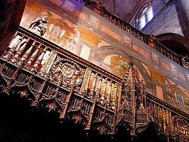 Interior of Siguenza cathedral Guadalajara Spain