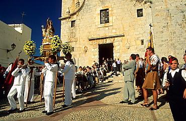 Procesion of Ermitana Virgin Peniscola Castellon Spain