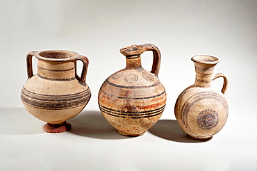 Cypriot terracotta amphora and jugs 9-8th century BCE private collection