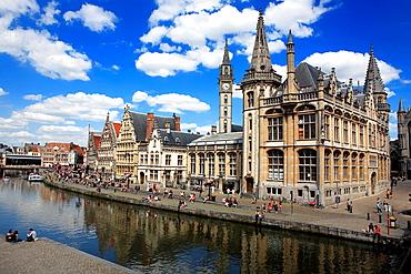 Graslei riverside, Ghent, Belgium