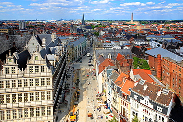 Cityscape from the Belfort, Ghent, Belgium