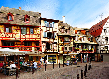 Timber framing houses at the center of Colmar, Alsace, France