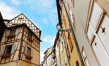 Tanner¥s district The houses, mostly date back to the 17th and 18th centuries, were used by tanners who worked and lived there Colmar, Alsace, France
