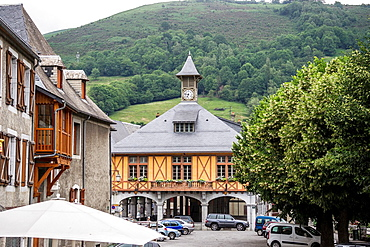 City hall of a small town Arreau in Hautes-Pyrenees region of France