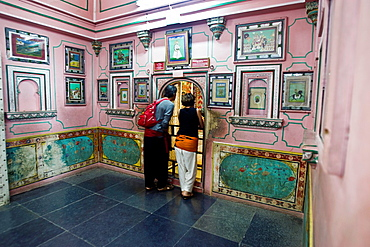 Historic paintings and prints City Palace Udaipur Rajasthan India