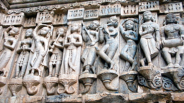 Bas relief carvings Jagdish Temple Udaipur Rajasthan India