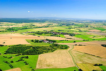 Countryside landscape near Gros Rederching, Moselle, Lorraine, France