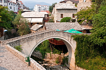 Crooked Bridge, Kriva Cuprija, Mostar, Bosnia and Herzegovina