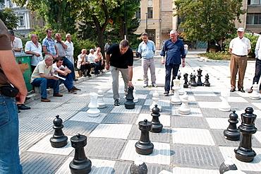 Game of chess, Liberation Square, Sarajevo, Bosnia and Herzegovina