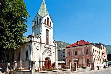 Catholic church, central Travnik, Bosnia and Herzegovina