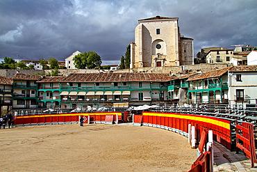 Chinchon, main square, occasionally bullring, Madrid, Spain