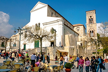 Piazza Vescovado, Ravello, Amalfi coast, Costiera Amalfitana, Province of Salerno, Campania, Italy, Europe