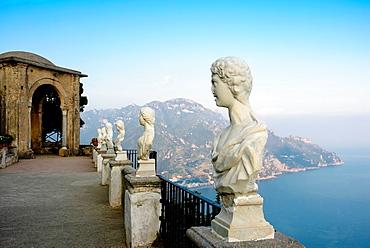 Villa Cimbrone, Belvedere, Terrace of Infinity, Ravello, Amalfi coast, Costiera Amalfitana, Province of Salerno, Campania, Italy, Europe