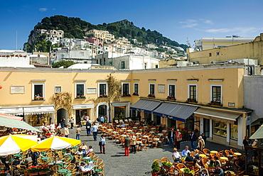 Piazza Umberto Uno, Isle of Capri, Capri, Province of Naples, Campania, Italy, Europe