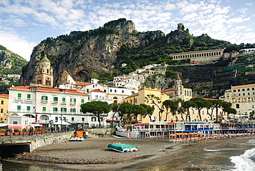 Beach in the City of Amalfi, Amalfi coast, Costiera Amalfitana, Province of Salerno, Campania, Italy, Europe