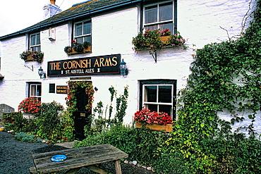 New Quay Cornish Arms bar in Cornwall England