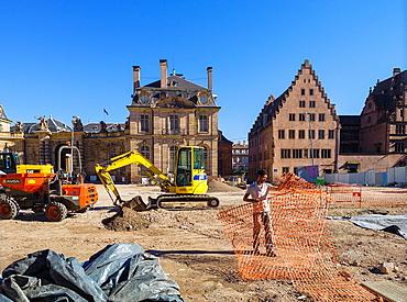 Archeological dig site Strasbourg Alsace France