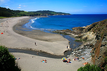 Landscape in the Frexulfe beach Navia council Asturias