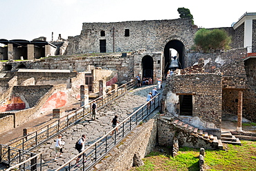 Tourism at Pompeya Italy