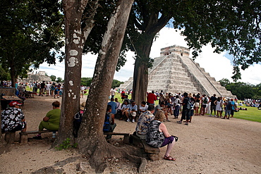 The Kukulkan Pyramid at Archeological site Chichen Itza, Yucatan Peninsula, Mexico