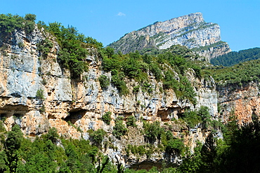 Canyon of Anisclo Valley, belonging to Ordesa y Monte Perdido National Park Pyrenees Fanlo Huesca province Aragon Spain