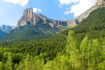 Tozal del Mallo in Ordesa Valley, declarated World Heritage by UNESCO, and belonging to Ordesa y Monte Perdido National Park Pyrenees Torla Huesca province Aragon Spain