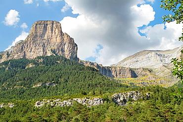 Tozal del Mallo in Ordesa Valley, declarated World Heritage by UNESCO, and belonging to Ordesa y Monte Perdido National Park Pyrenees Torla Huesca province Aragon Spain
