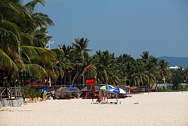 Sanya beach, Hainan Island, China.