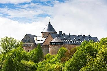 The historic Waldeck castle, Hesse, Germany, Europe