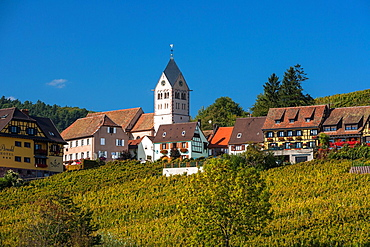 The picturesque town of Itterswiller, Alsace, France, Europe