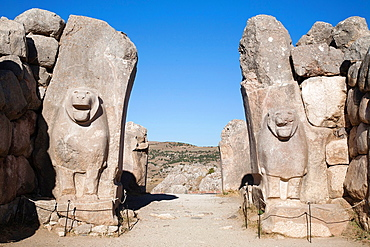 The Lions Gate, Archaeological Area Of Hattusa, Central Anatolia, Turkey, Asia