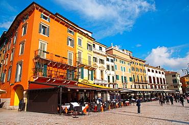 Piazza Bra square central Verona city the Veneto region northern Italy Europe