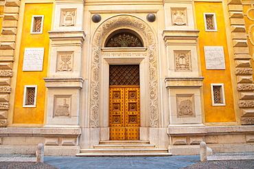 Synagogue in the Ghetto along Via Rita Rosani old town Verona city the Veneto region northern Italy Europe
