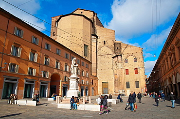 Piazza Galvani square central old town Bologna city Emilia-Romagna region northern Italy Europe