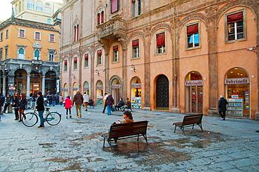 Piazza di Porta Ravegnana square central Bologna city Emilia-Romagna region northern Italy Europe
