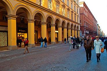 Via dellIndipendenza street central Bologna city Emilia-Romagna region northern Italy Europe