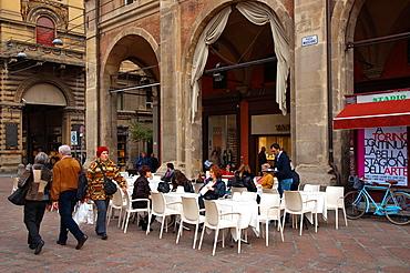 Piazza Maggiore square central Bologna city Emilia-Romagna region northern Italy Europe