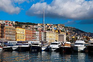 Molo di Mergellina port Mergellina district Naples city La Campania region southern Italy Europe