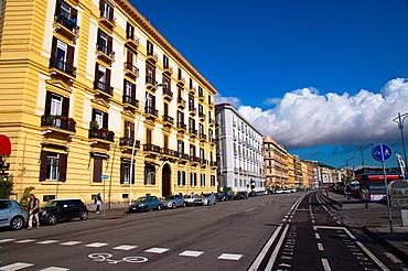 Via Caracciolo seaside street Mergellina district Naples city La Campania region southern Italy Europe