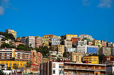 Houses on the hills Chiaia district Naples city La Campania region southern Italy Europe