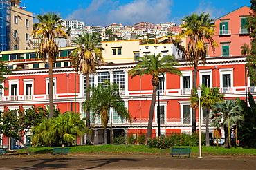Villa Comunale park Chiaia district Naples city La Campania region southern Italy Europe